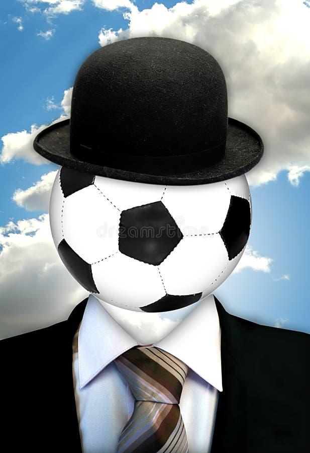 Hoofd over voetbal royalty-vrije illustratie