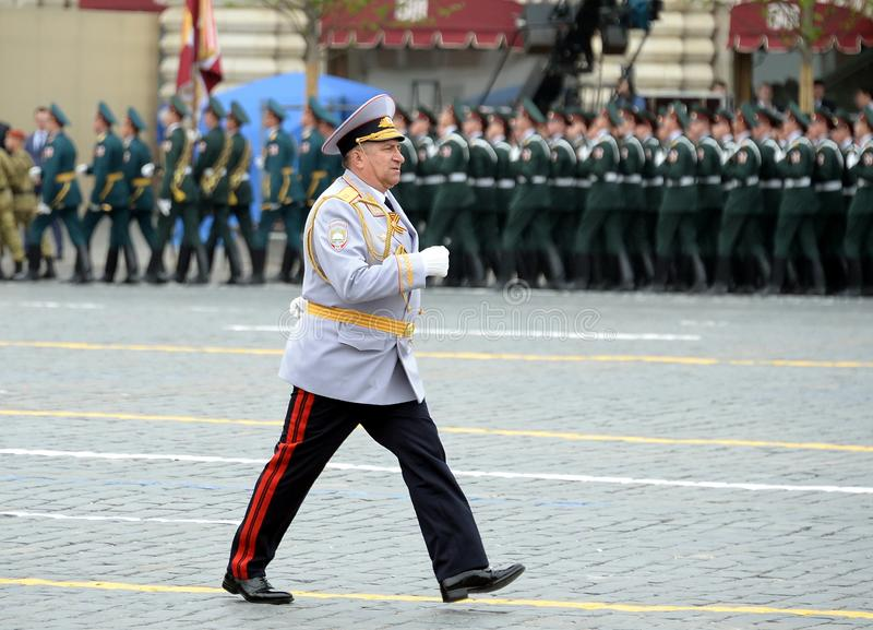 Hoofd van de Universiteit van Moskou van het Ministerie van interne Zaken van de politieluitenant van Rusland Generaal Igor Kalin stock afbeeldingen