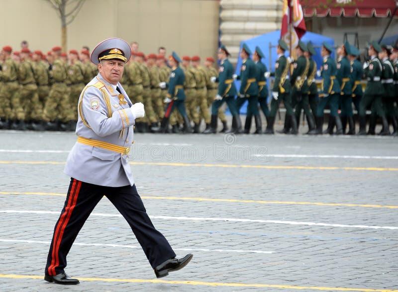 Hoofd van de Universiteit van Moskou van het Ministerie van interne Zaken van de politieluitenant van Rusland Generaal Igor Kalin royalty-vrije stock afbeelding