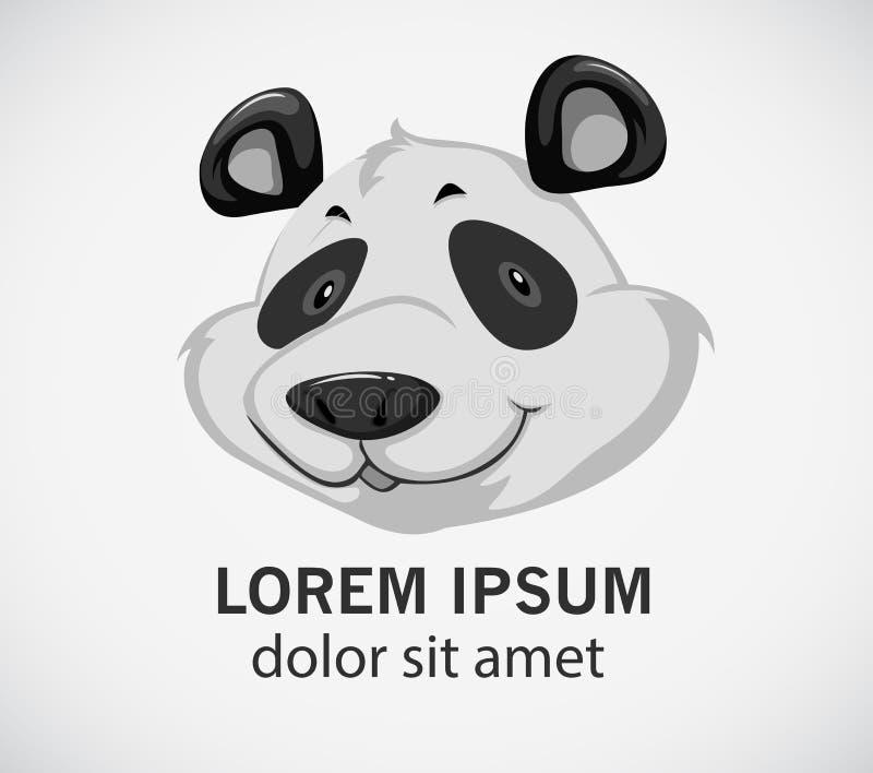 Hoofd van een panda vector illustratie