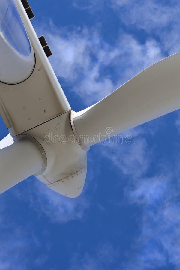 Hoofd van een windturbine stock afbeeldingen