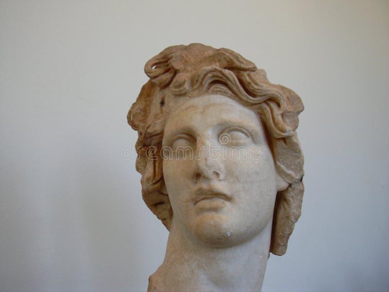Hoofd van Helios bij archeologisch Museum van Rhodes Greece royalty-vrije stock afbeeldingen