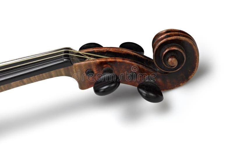 Hoofd van klassieke viool royalty-vrije stock afbeelding
