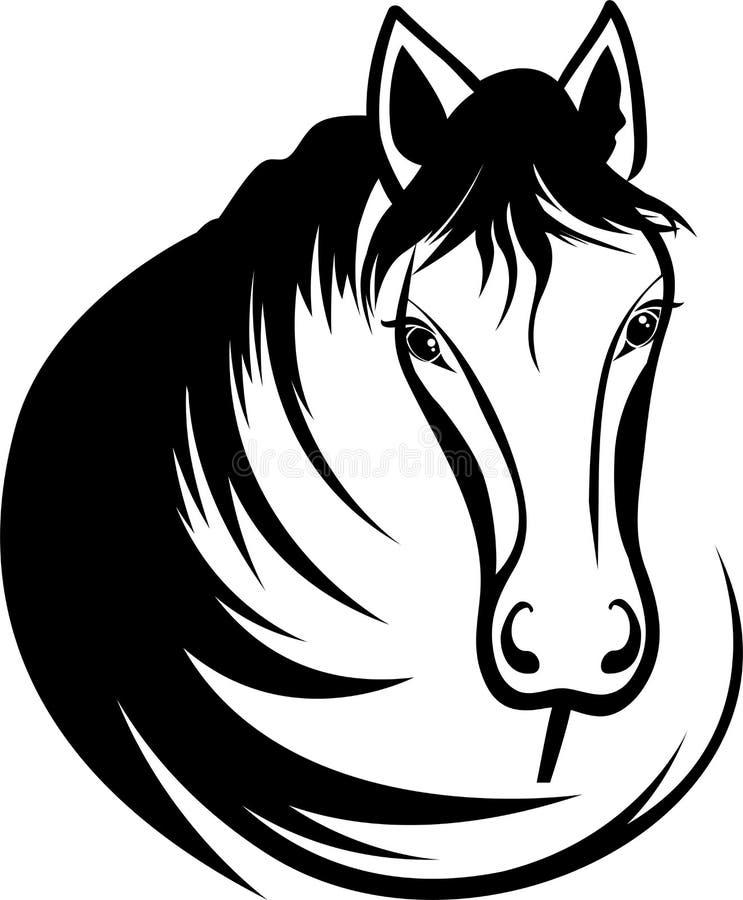 Hoofd van paard stock illustratie