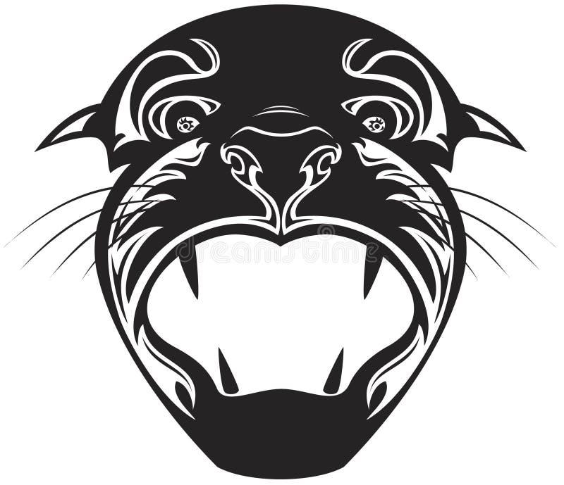 Hoofd van tijger vector illustratie