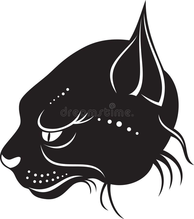 Hoofd van wilde kat royalty-vrije illustratie