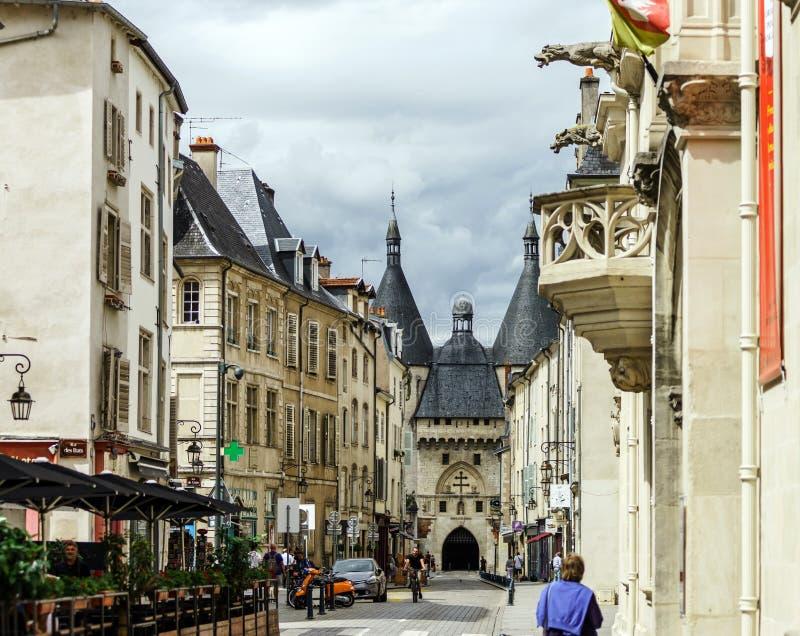 Hoofdartikel, 31 Juli 2016: Nancy, Frankrijk: Toeristisch centrum van royalty-vrije stock afbeeldingen