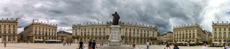 Hoofdartikel, 31 Juli 2016: Nancy, Frankrijk: Toeristisch centrum van stock foto's