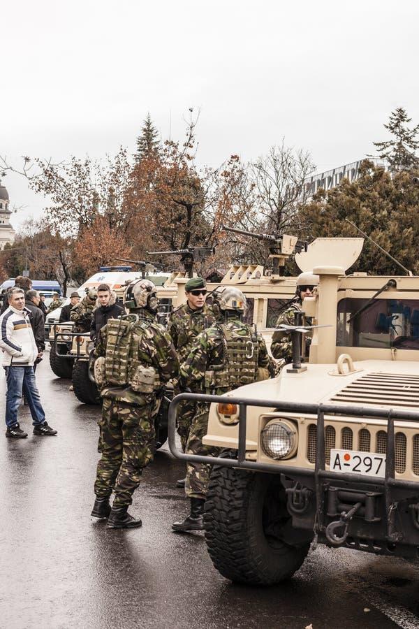 Hoofdartikel: vóór eerste van December-parade ( 1) royalty-vrije stock foto