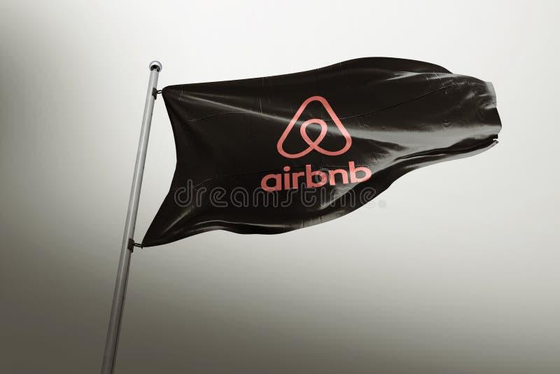 Hoofdartikel van de Aribnb photorealistic vlag royalty-vrije illustratie