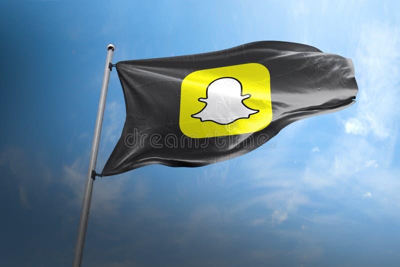 Hoofdartikel van de Snapchat photorealistic vlag stock foto