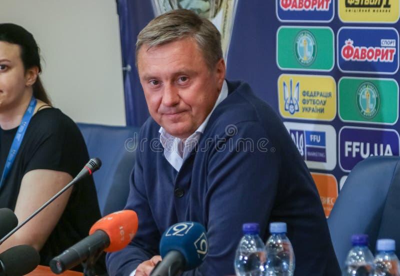 Hoofdbus van FC-Dynamo - Alexander Khatskevich stock fotografie