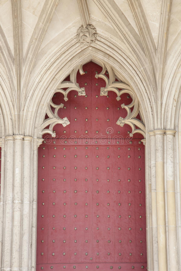 Hoofddeur van de Kathedraalkerk van Winchester, Engeland royalty-vrije stock fotografie