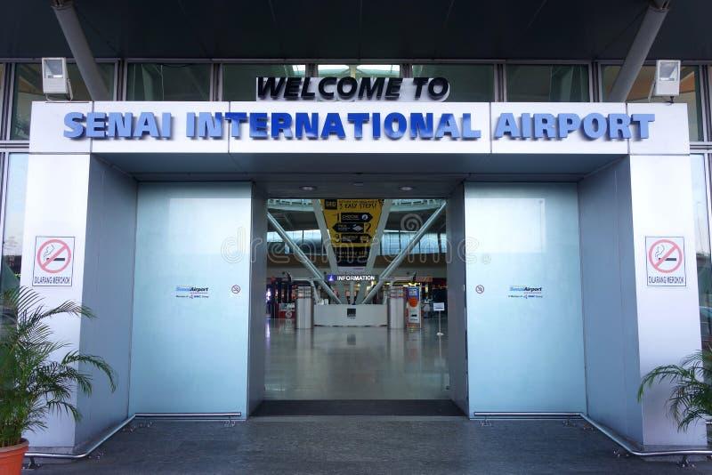 Hoofddieingang van Senai-Luchthaven in Johor, Maleisië wordt gevestigd royalty-vrije stock afbeeldingen