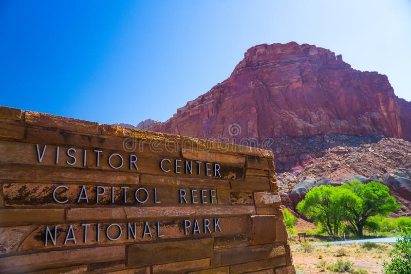 Hoofdertsader Nationaal Park Utah stock afbeelding
