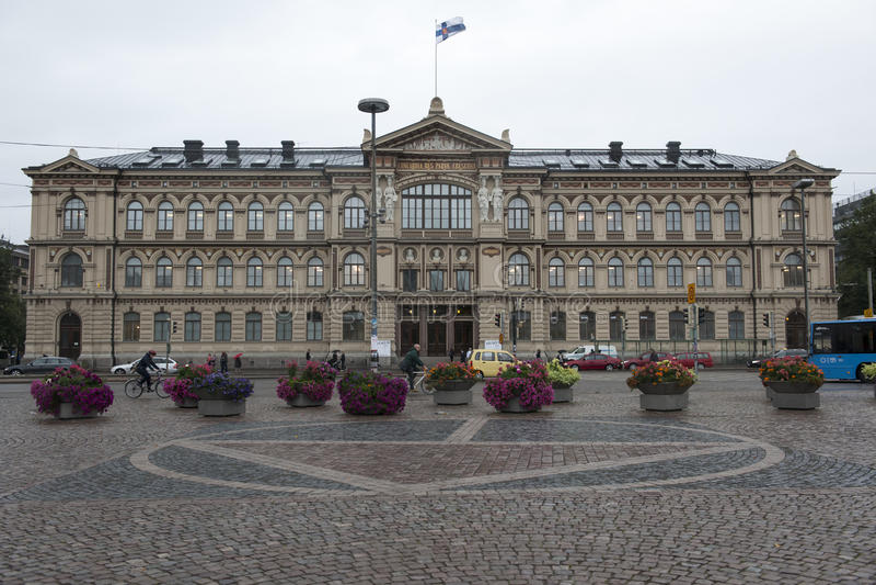 Hoofdgebouw Universitair Helsinki stock foto's