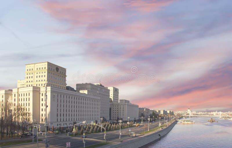 Hoofdgebouw van het Ministerie van Defensie van de Russische Federatie Moskou, Rusland stock foto's
