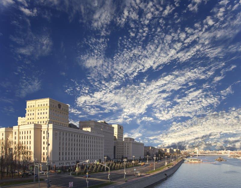 Hoofdgebouw van het Ministerie van Defensie van de Russische Federatie Moskou, Rusland royalty-vrije stock foto's