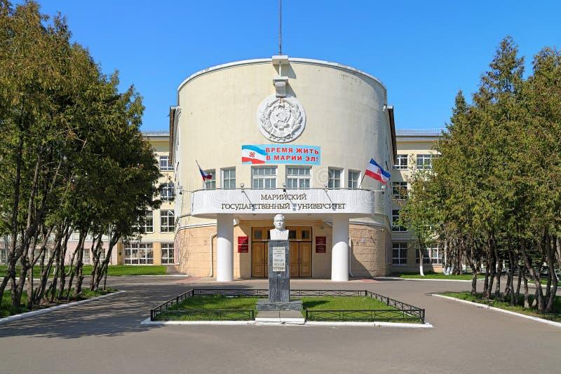 Hoofdgebouw van Mari State University in Yoshkar-Ola, Rusland stock afbeeldingen