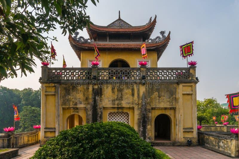 Hoofdingang van de Lange Citadel van Thang royalty-vrije stock afbeeldingen