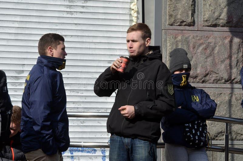 Hoofdkantoor van Sberbank in Kiev stock fotografie
