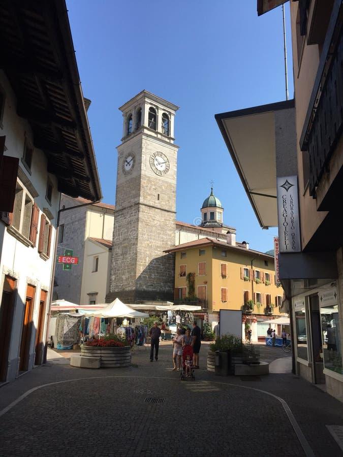 Hoofdkerk in Tarcento stock afbeelding