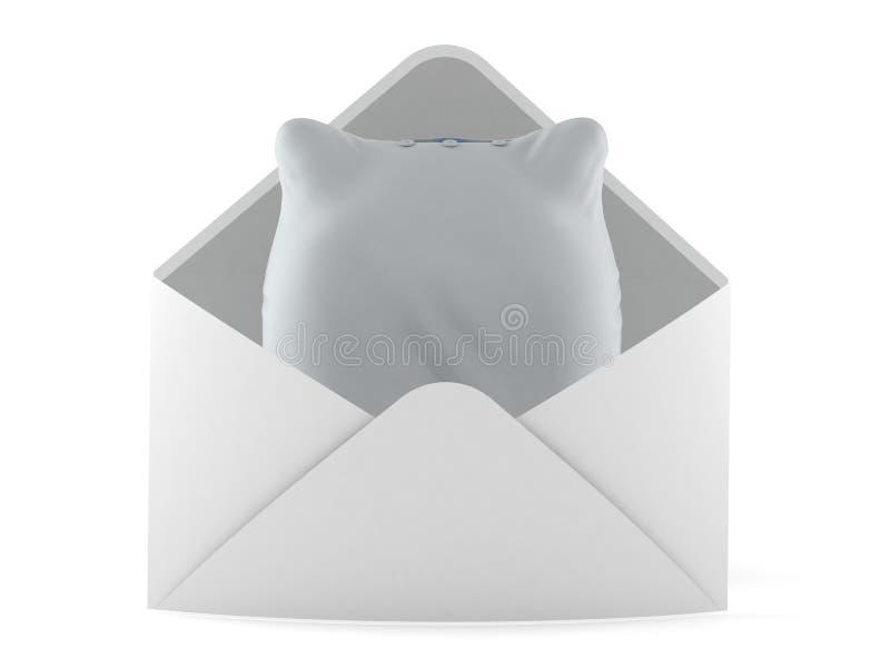 Hoofdkussen binnen envelop vector illustratie