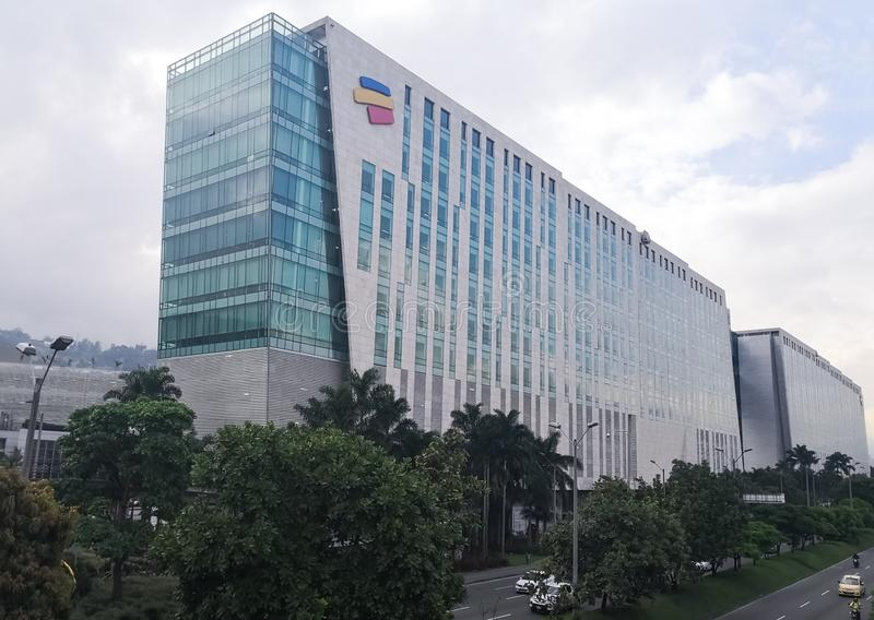 Hoofdkwartier van Bancolombia, de belangrijkste particuliere bank in Colombia stock fotografie