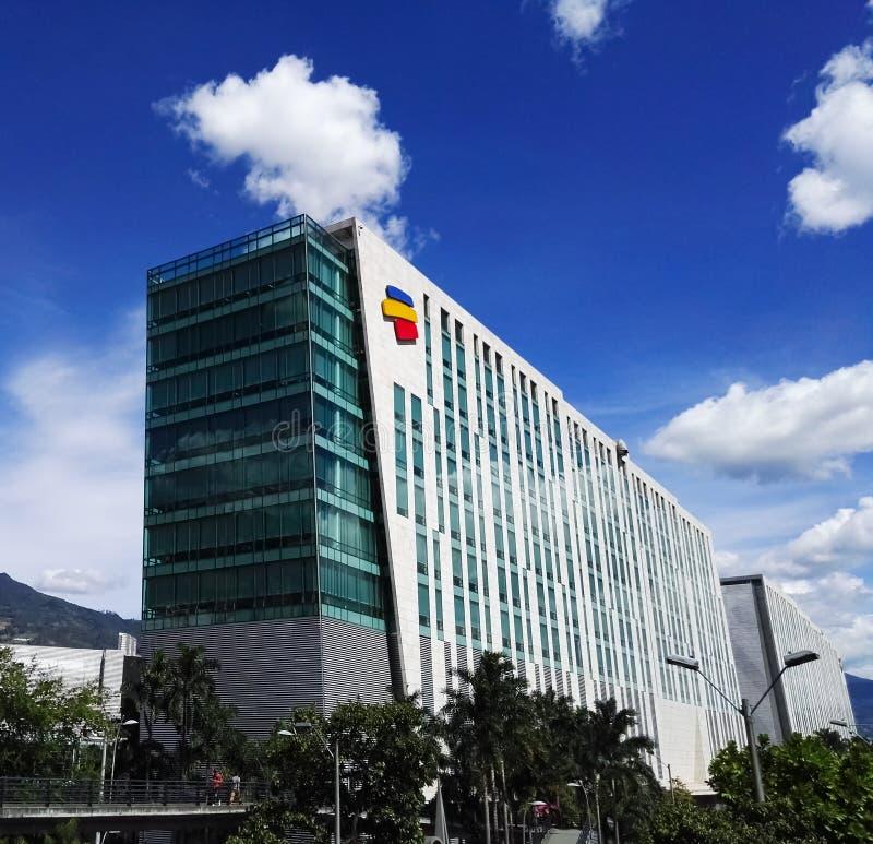 Hoofdkwartier van de Columbiaanse bank Bancolombia royalty-vrije stock fotografie