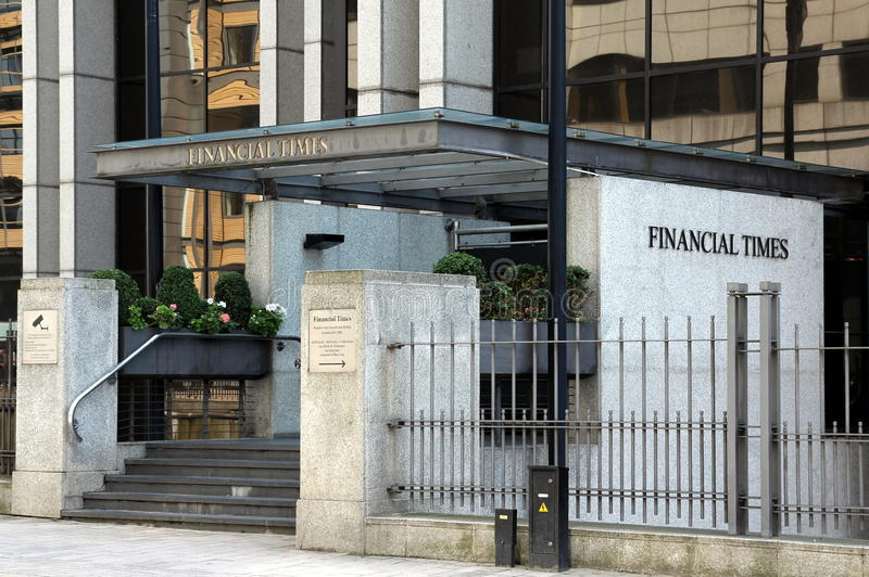 Hoofdkwartier van de Financial Times stock afbeelding
