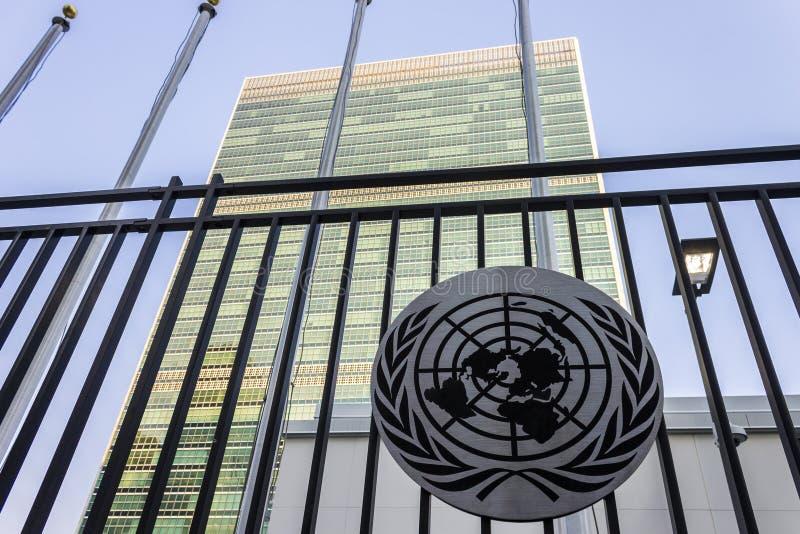 Hoofdkwartier van de Verenigde Naties, de Stad van New York stock foto's