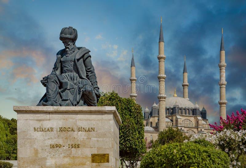 Hoofdottomanearchitect Sinan royalty-vrije stock afbeelding