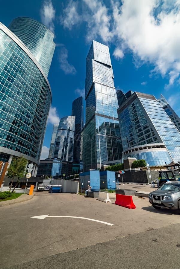 Hoofdstad - multifunctionele complex, die deel van de stad van Moskou uitmaakt, bestaand uit twee torens - Moskou en St. Petersbu stock afbeelding