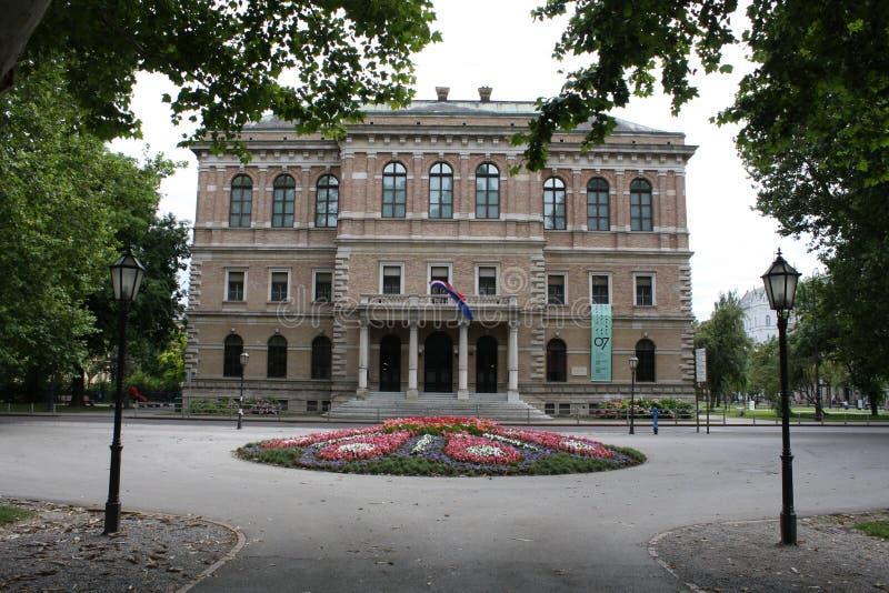 Hoofdstad van Kroatië, museum in de stad royalty-vrije stock afbeeldingen