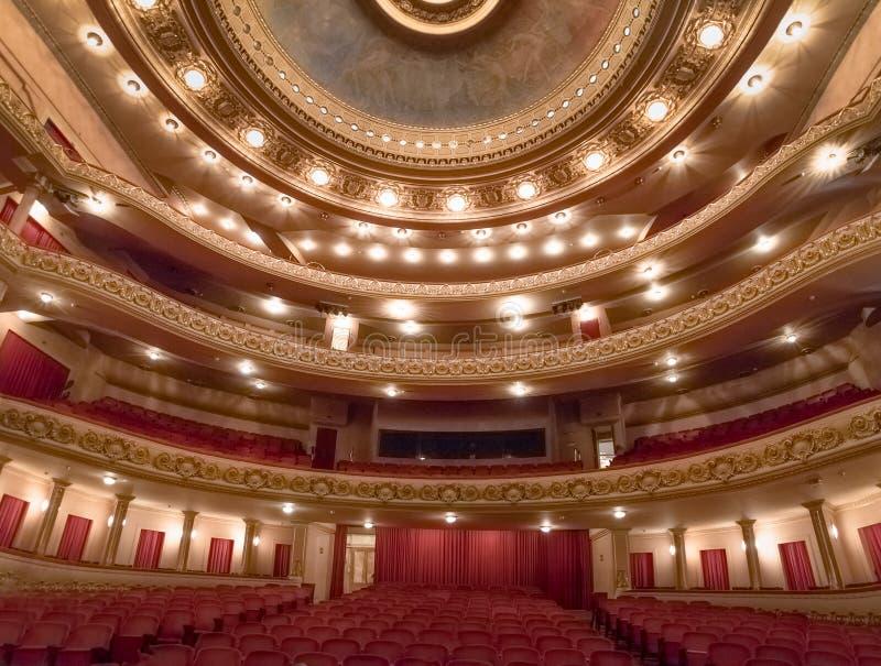 Hoofdstadium bij Rio de Janeiro Municipal Theatre-binnenland - Rio de Janeiro, Brazilië royalty-vrije stock foto's