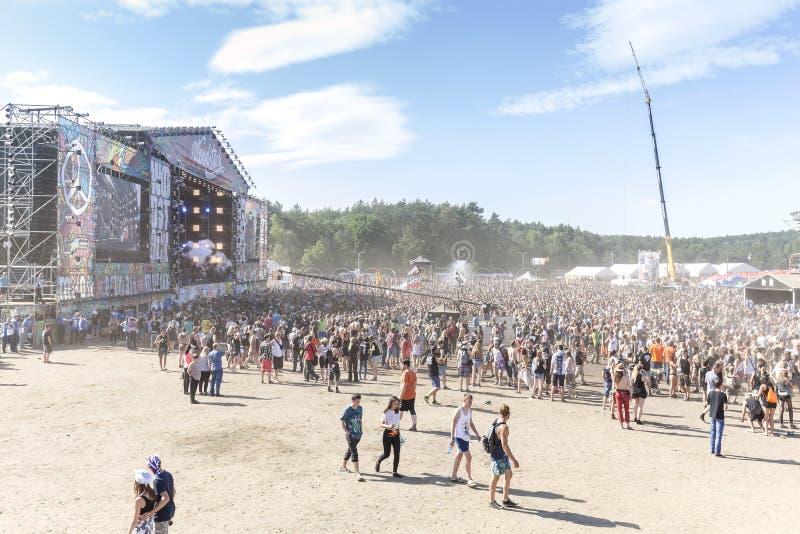 Hoofdstadium van het 21ste Woodstock-Festival Polen stock afbeeldingen