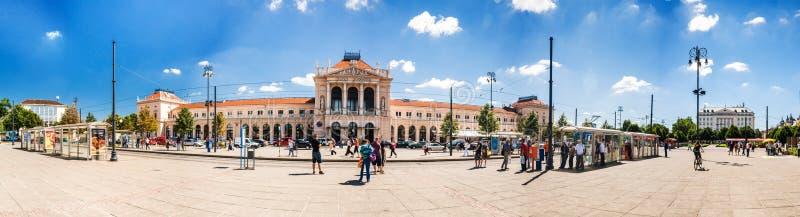 Hoofdstation van Zagreb, Kroatië stock foto's