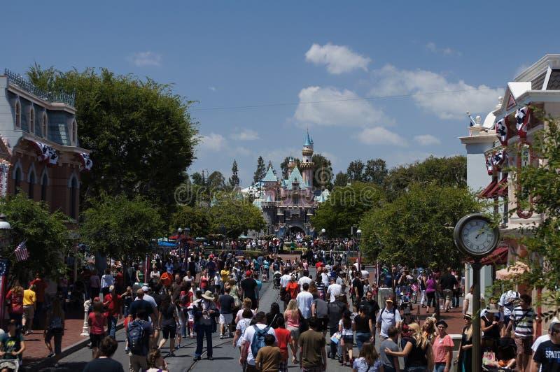 Hoofdstraat Disneyland royalty-vrije stock foto