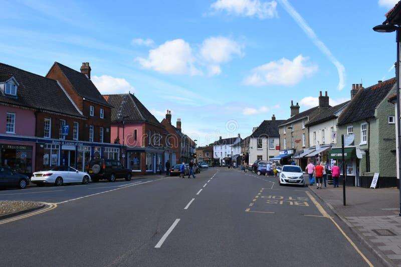 Hoofdstraat, Holt, Norfolk, Engeland stock foto