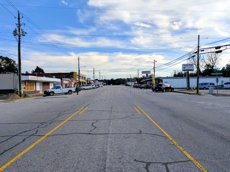 Hoofdstraat in Noord-Carolina royalty-vrije stock foto