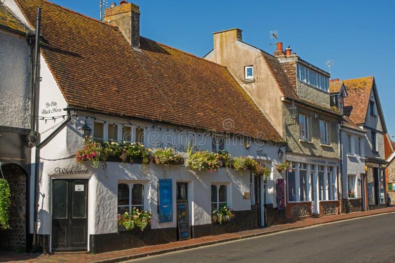 Hoofdstraat in Rottingdean, Sussex, Engeland royalty-vrije stock afbeeldingen