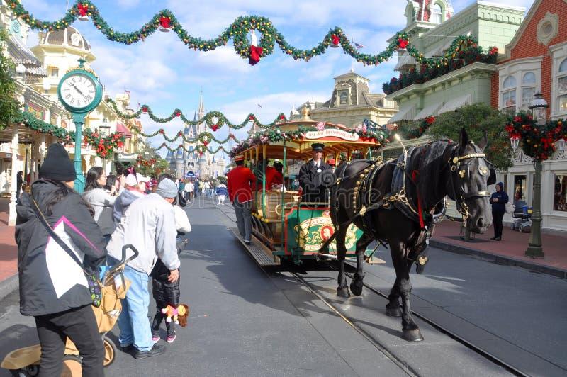 Hoofdstraat van de Wereld van Walt Disney royalty-vrije stock afbeelding
