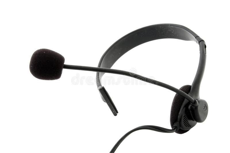 Hoofdtelefoon - hoofdtelefoons en microfoon royalty-vrije stock foto's