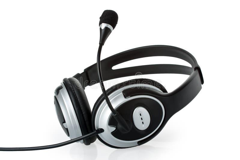 Hoofdtelefoon met microfoon stock afbeelding
