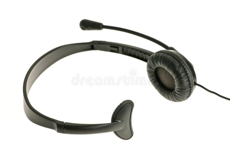 Hoofdtelefoon met microfoon royalty-vrije stock afbeeldingen