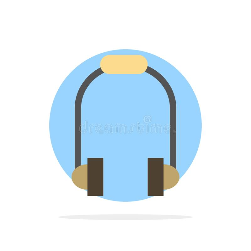 Hoofdtelefoon, Oortelefoon, Telefoon, van de Achtergrond muziek Abstract Cirkel Vlak kleurenpictogram royalty-vrije illustratie