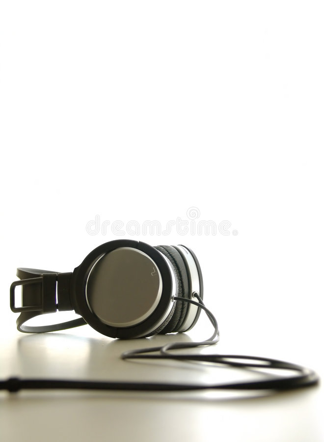 Hoofdtelefoons royalty-vrije stock afbeelding