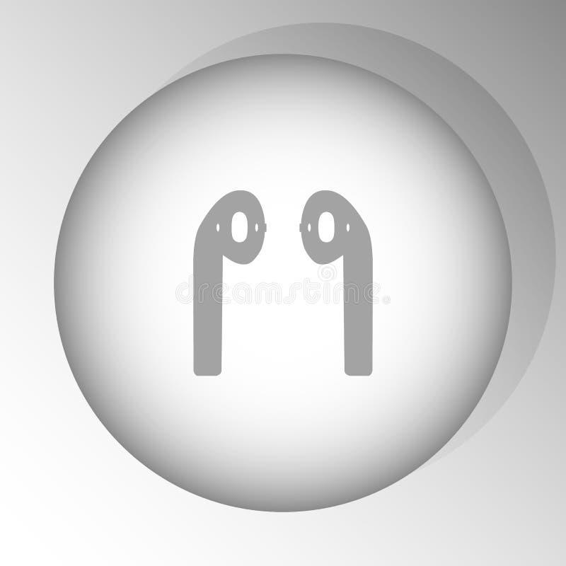 Hoofdtelefoons airpods stock illustratie
