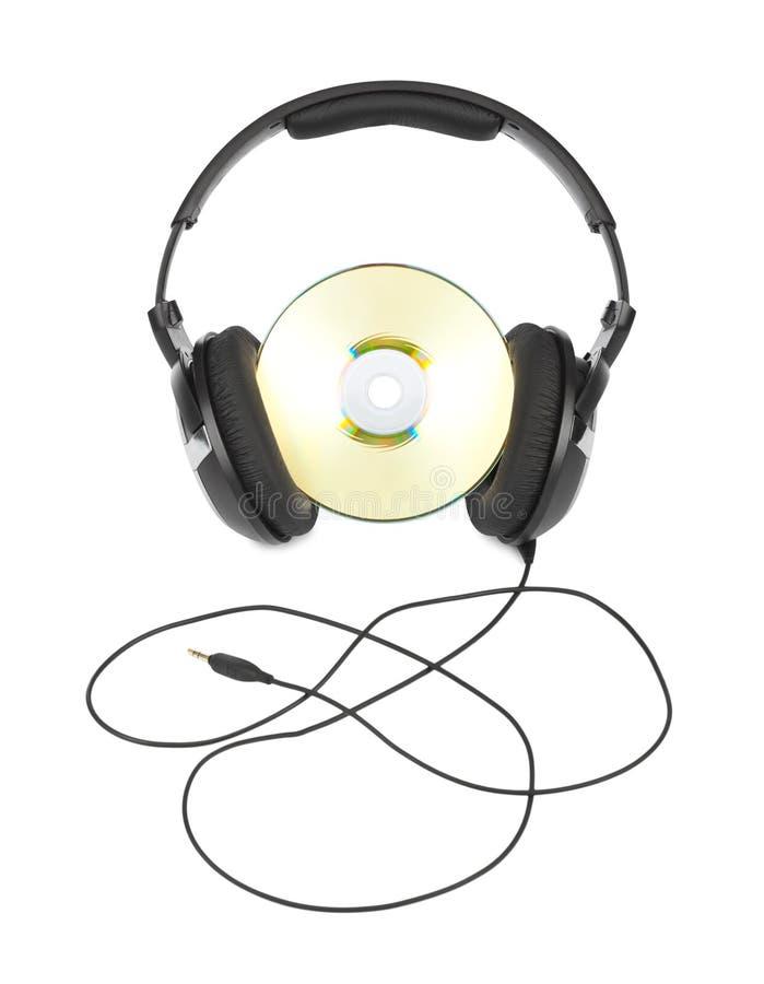 Hoofdtelefoons en CD royalty-vrije stock foto