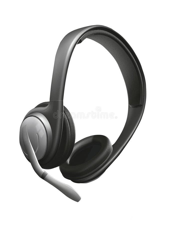 Hoofdtelefoons met mic stock foto's